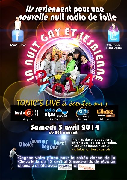 Nuit Gay Tonic's Live 2014